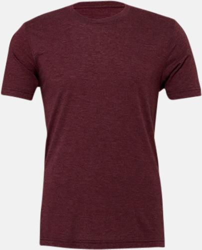 Maroon Triblend heather (unisex) T-shirts för vuxna & barn - med reklamtryck