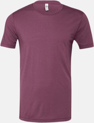 Mauve Triblend heather (unisex) T-shirts för vuxna & barn - med reklamtryck