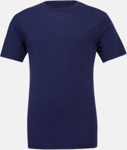 Navy Triblend heather (unisex) T-shirts för vuxna & barn - med reklamtryck