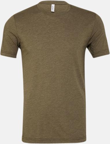 Olive Triblend heather (unisex) T-shirts för vuxna & barn - med reklamtryck