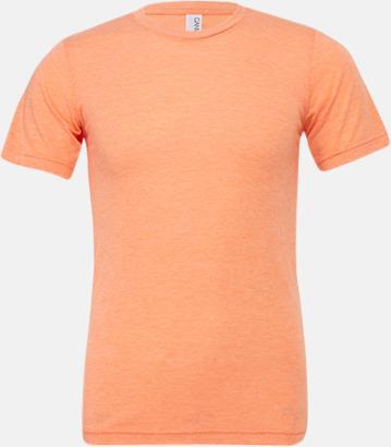 Orange Triblend heather (unisex) T-shirts för vuxna & barn - med reklamtryck