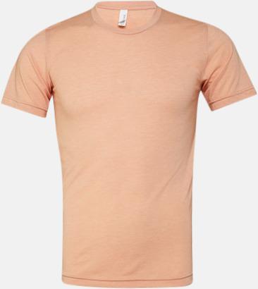 Peach Triblend heather (unisex) T-shirts för vuxna & barn - med reklamtryck