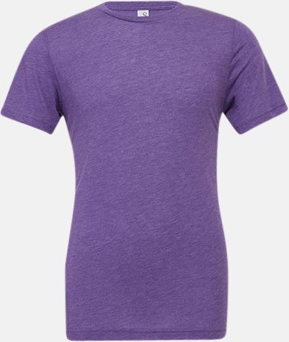 Purple Triblend heather (unisex) T-shirts för vuxna & barn - med reklamtryck