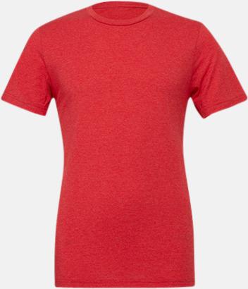 Red Triblend heather (unisex) T-shirts för vuxna & barn - med reklamtryck