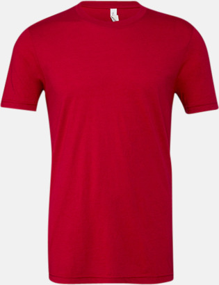 Solid Red Triblend (unisex) T-shirts för vuxna & barn - med reklamtryck