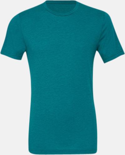 Teal Triblend heather (unisex) T-shirts för vuxna & barn - med reklamtryck