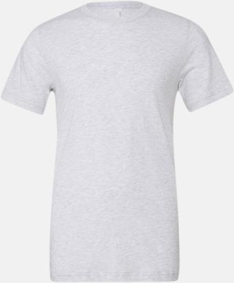 White Fleck Triblend heather (unisex) T-shirts för vuxna & barn - med reklamtryck