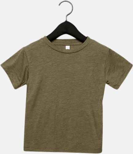 Olive Triblend heather (barn, baby) T-shirts för vuxna & barn - med reklamtryck