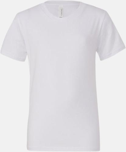 Vit (ungdom) T-shirts för baby, barn & ungdom - med reklamtryck