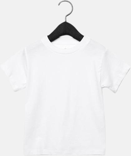 Vit (barn) T-shirts för baby, barn & ungdom - med reklamtryck