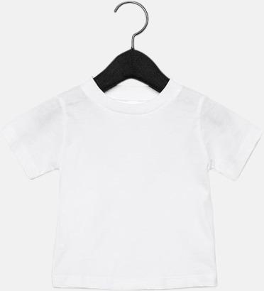 Vit (baby) T-shirts för baby, barn & ungdom - med reklamtryck
