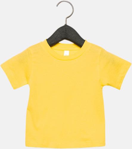 Gul (baby) T-shirts för baby, barn & ungdom - med reklamtryck