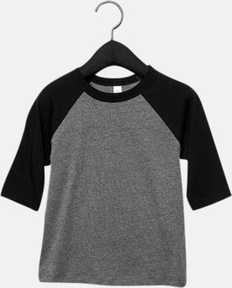 Deep Heather/Svart (barn/ungdom) Baseball t-shirts för små & vuxna med reklamtryck