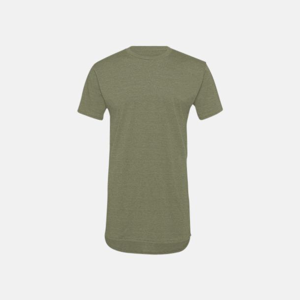 Heather Stone Längre herr t-shirts med reklamtryck