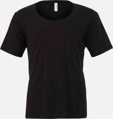 Svart Herr t-shirts med vidare hals - med reklamtryk