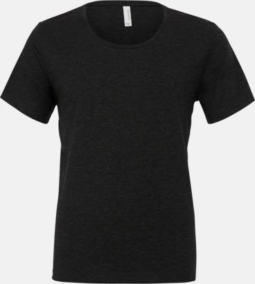 Charcoal-Black Triblend (heather) Herr t-shirts med vidare hals - med reklamtryk
