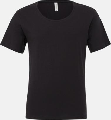 Mörkgrå Herr t-shirts med vidare hals - med reklamtryk
