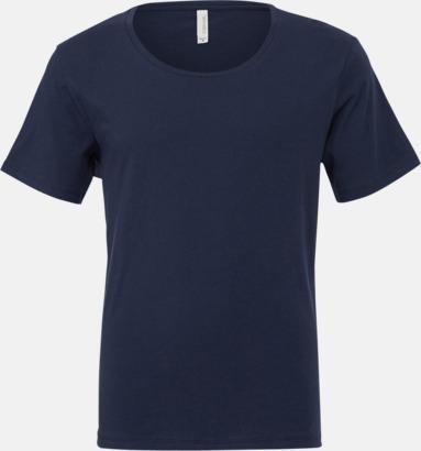 Marinblå Herr t-shirts med vidare hals - med reklamtryk