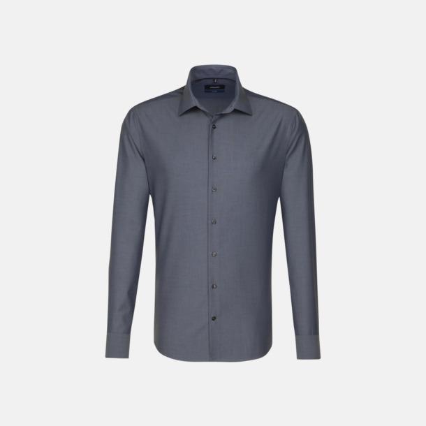Anthracite (herr, tailored fit) Långärmade skjortor & blusar med relamlogo