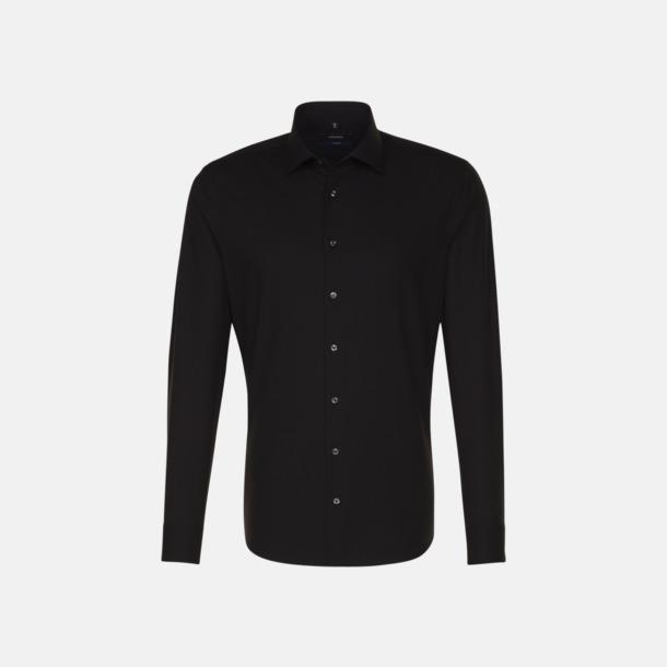 Svart (herr, tailored fit) Långärmade skjortor & blusar med relamlogo