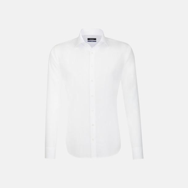 Vit (herr, tailored fit) Långärmade skjortor & blusar med relamlogo