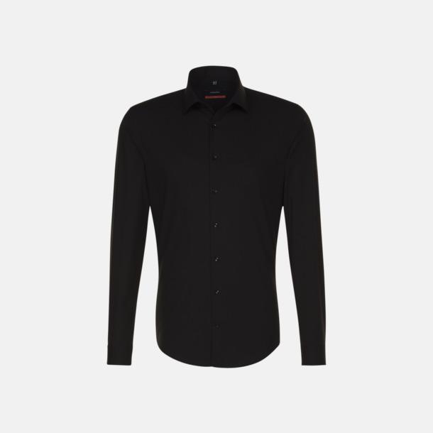 Svart (herr, slim fit) Långärmade skjortor & blusar med relamlogo