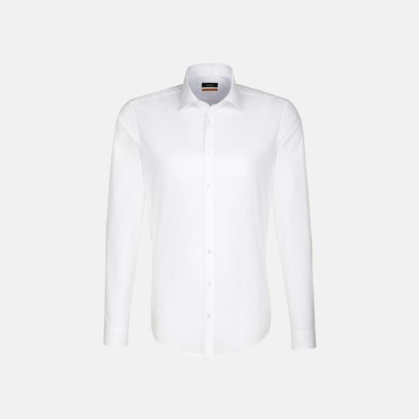 Vit (herr, slim fit) Långärmade skjortor & blusar med relamlogo