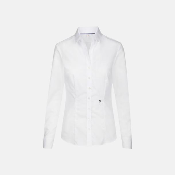 Vit (dam) Långärmade skjortor & blusar med relamlogo