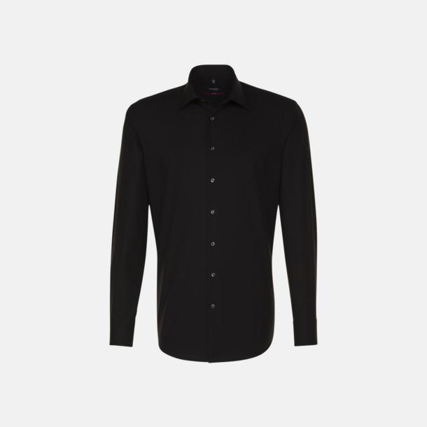 Svart (herr) Moderna & exklusiva skjortor med reklamlogo