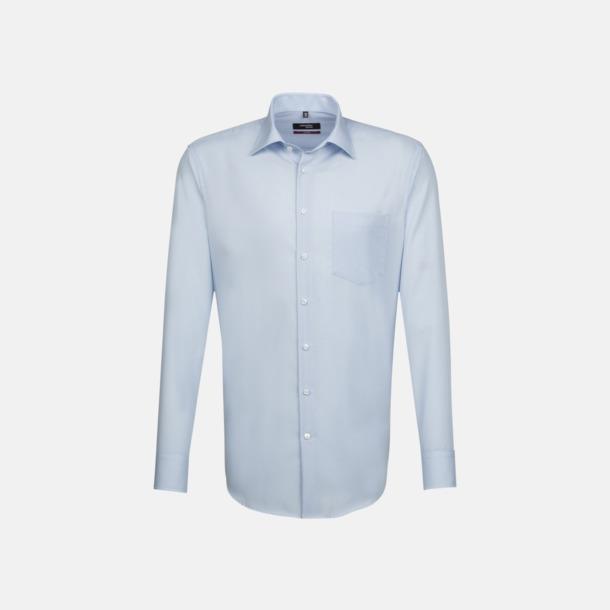 Ljusblå (herr) Moderna & exklusiva skjortor med reklamlogo
