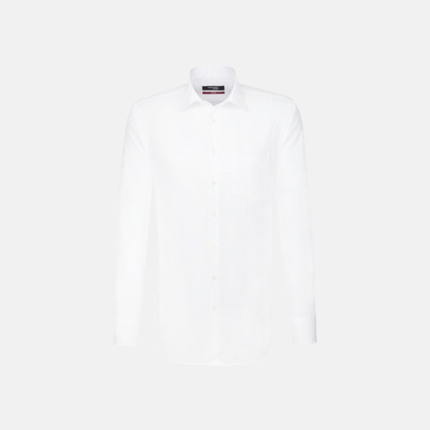 Vit (herr) Moderna & exklusiva skjortor med reklamlogo