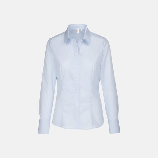 Ljusblå (dam) Moderna & exklusiva skjortor med reklamlogo