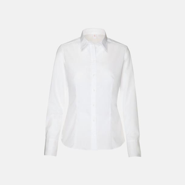 Vit (dam) Moderna & exklusiva skjortor med reklamlogo