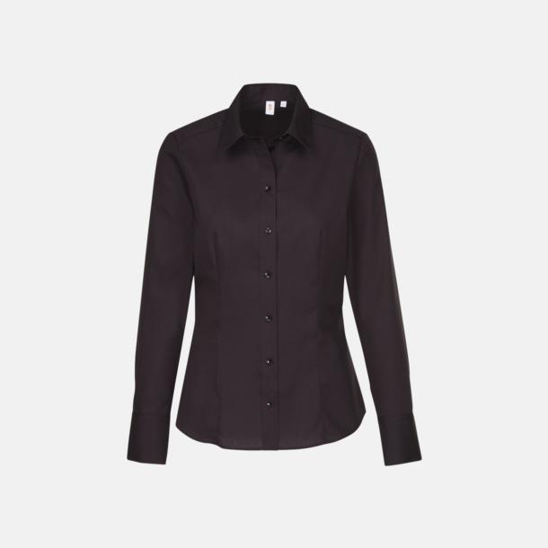 Svart (dam) Moderna & exklusiva skjortor med reklamlogo
