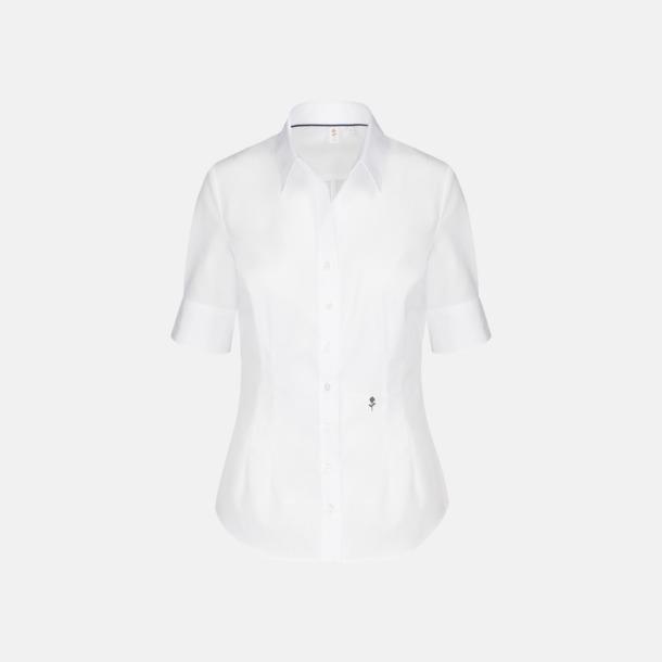 Vit (dam) Kortärmade Seidensticker skjortor med reklamlogo