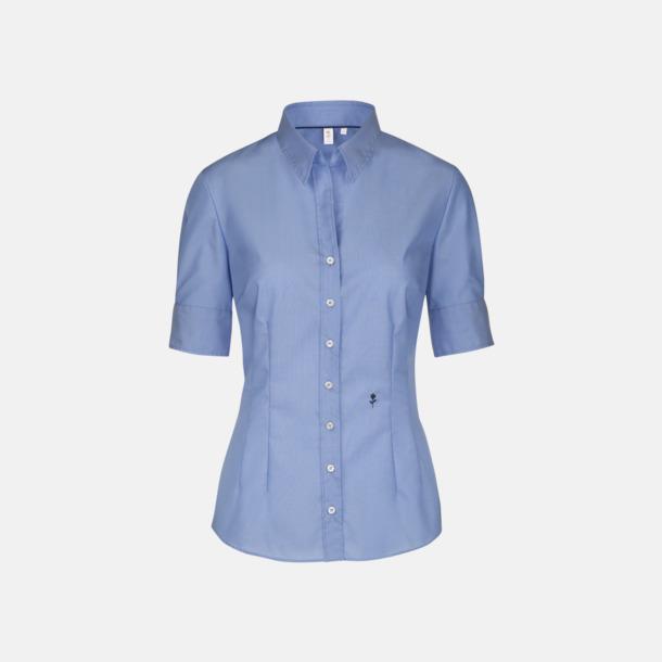 Midblue (dam) Kortärmade Seidensticker skjortor med reklamlogo