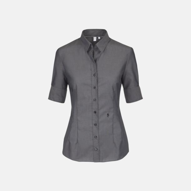 Anthracite (dam) Kortärmade Seidensticker skjortor med reklamlogo