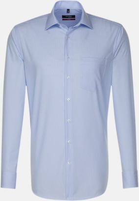 Striped Light Blue/White (herr, modern fit) Rutiga och randiga Seidensticker skjortor med reklamtryck