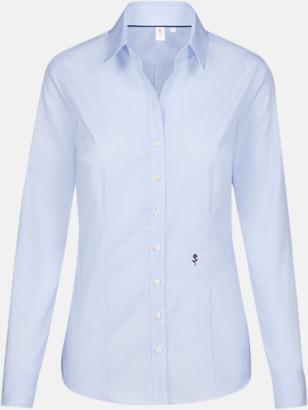 Striped Light Blue/White (dam) Rutiga och randiga Seidensticker skjortor med reklamtryck