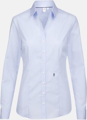 Check Light Blue/White (dam) Rutiga och randiga Seidensticker skjortor med reklamtryck