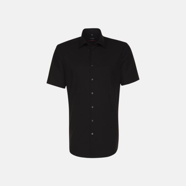 Svart (herr) Kortärmade blusar & skjortor från Seidensticker med reklamtryck