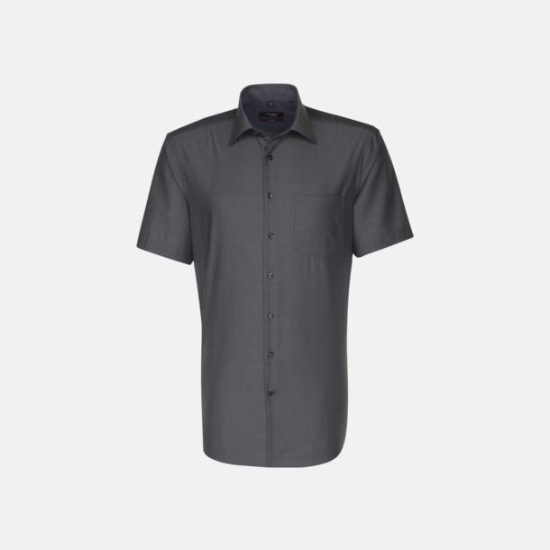 Anthracite (herr) Kortärmade blusar & skjortor från Seidensticker med reklamtryck