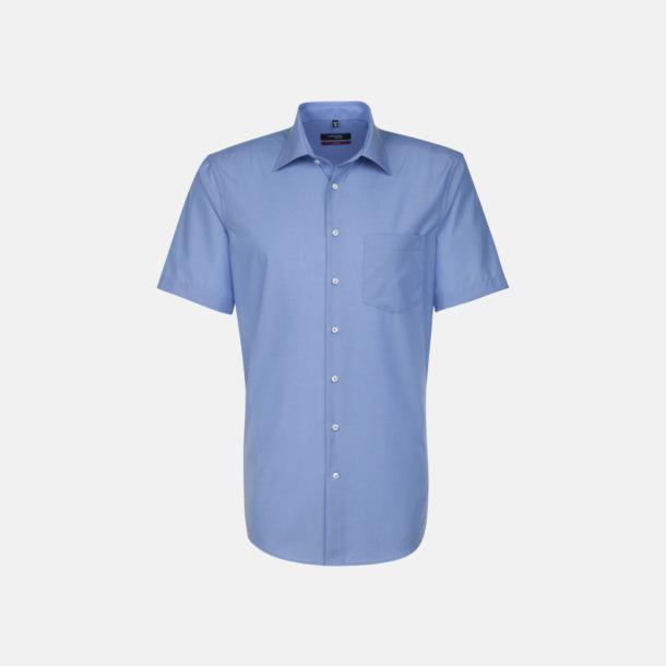 Midblue (herr) Kortärmade blusar & skjortor från Seidensticker med reklamtryck