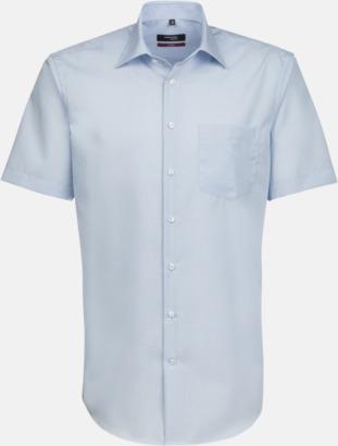 Ljusblå (herr) Kortärmade blusar & skjortor från Seidensticker med reklamtryck