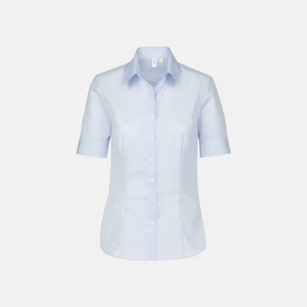 Ljusblå (dam) Kortärmade blusar & skjortor från Seidensticker med reklamtryck