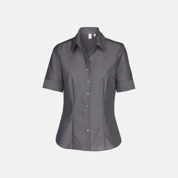 Anthracite (dam) Kortärmade blusar & skjortor från Seidensticker med reklamtryck