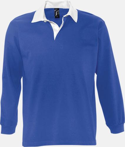 Royal/Vit (herr) 2-färgade pikétröjor med reklamtryck
