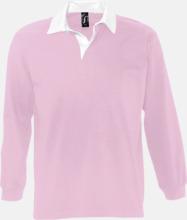 2-färgade pikétröjor med reklamtryck