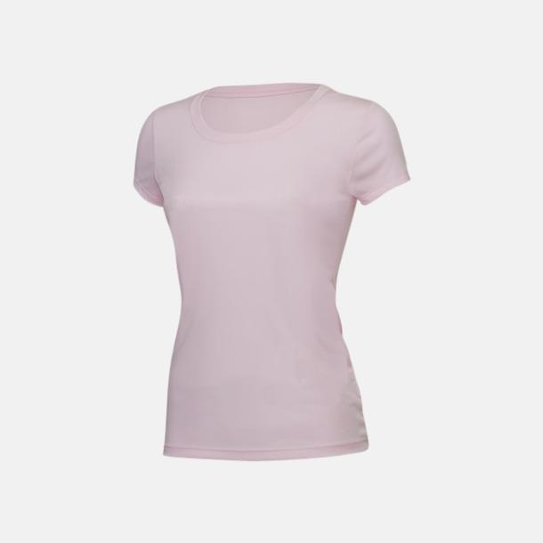 Rosa (dam) Kortärmade funktions t-shirts med reklamtryck