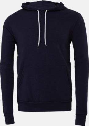 Marinblå Unisex fleece hoodies med reklamtryck